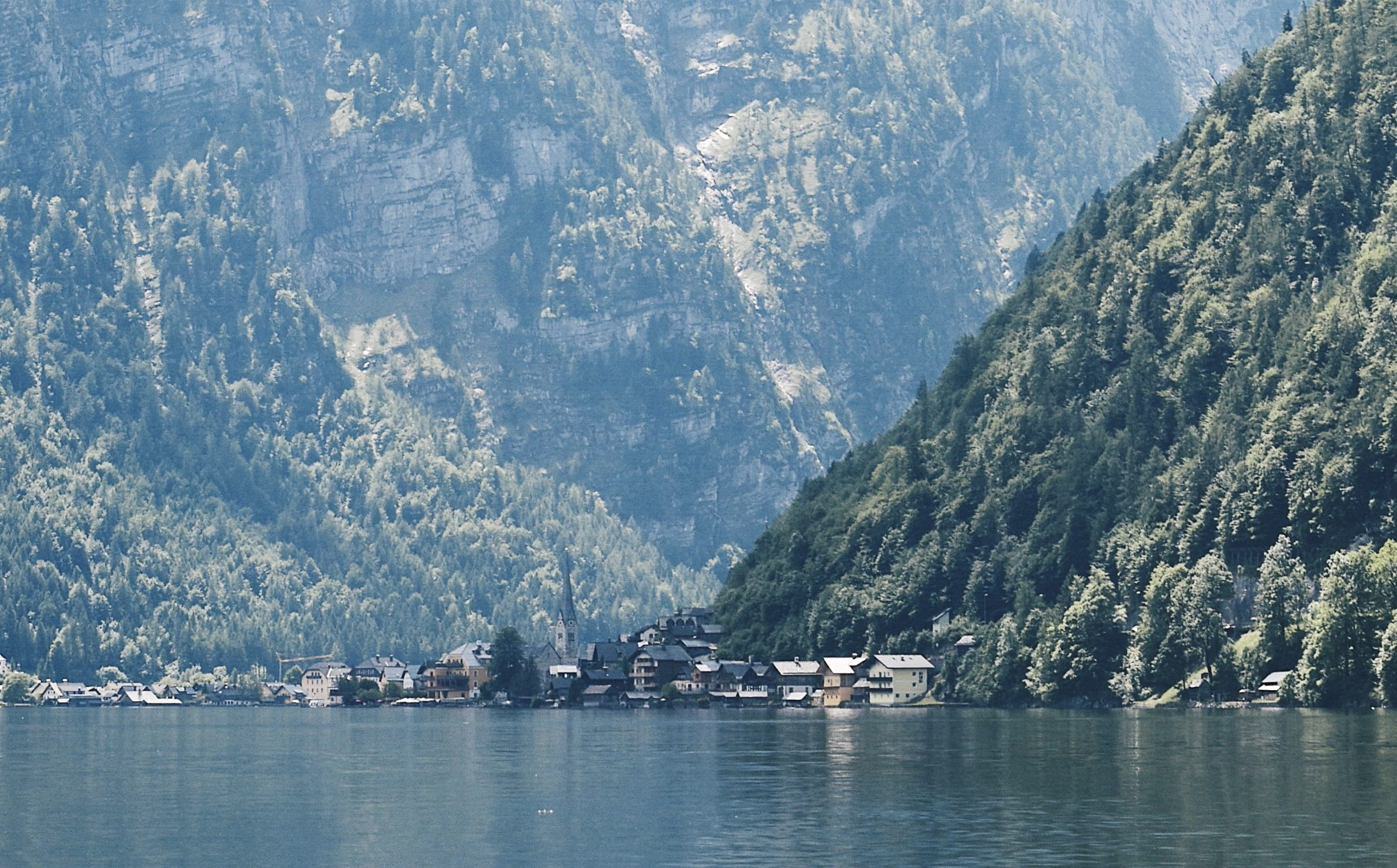 Best way to see Hallstatt is from the middle of the lake
